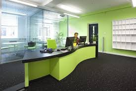 green wall decor cool ideas for office reception area with green wall decor modern