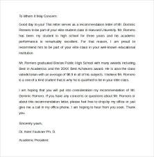 student recommendation letter recommendation letter sample from