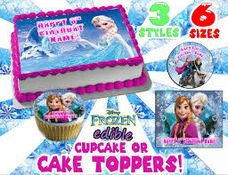 frozen cake top edible or cupcake toppers by pictures4cakes 8 00