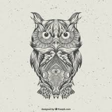 Patterned Flying Owl Drawing Illustration Owl Vectors Photos And Psd Files Free