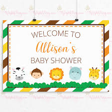 baby shower posters it s a girl shower backdrop or poster girl safari baby shower