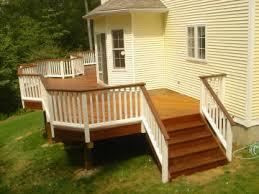 wrap around deck designs wrap around deck like the white and brown combo instead of all the