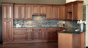 Cabinets  Drawer Brown Kitchenl Flat Panel Kitchen Cabinet Door - Square tile backsplash