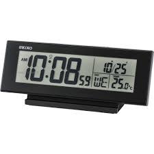 desk alarm clock seiko clocks lcd thermometer desk alarm clock qhl072k watch