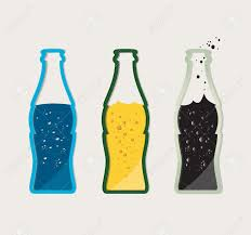 beer bottle cartoon vector set of drinks beer water cola in a glass bottle royalty