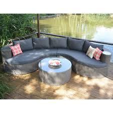 Curved Patio Furniture Set - lg outdoor saigon rustic weave curved modular sofa set u2013 next day
