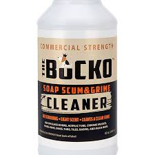 how do i clean soap scum from glass shower doors amazon com the bucko soap scum and grime remover bathroom