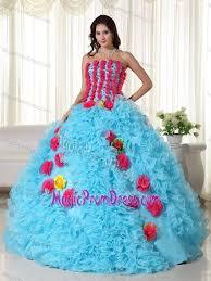 blue graduation dresses organza beaded aqua strapless prom graduation dress with rolling