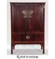 4 Door Cabinet Antique Asian Furniture 4 Door Cabinet With Butterfly Plate From