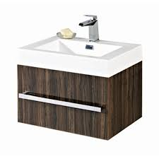 Wall Hung Vanity Unit With Basin Vue 1 Drawer High Gloss Ebony Finish Wall Mounted Vanity Unit