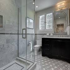 Black Bathroom Floor Tiles Black Hex Border Floor Tiles Design Ideas