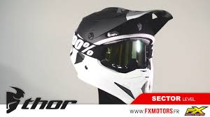 thor motocross helmet casque cross thor mx sector level noir blanc youtube