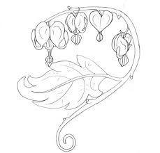 bleeding hearts and flowers sketch tattoo design tattoomagz