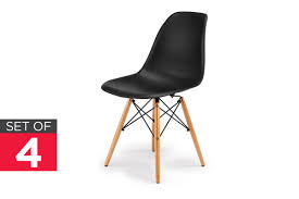 Dining Chair Eames Ovela Set Of 4 Eiffel Dsw Dining Chairs Eames Replica Black
