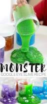 monster slime recipe with clear glue and google eyes activity