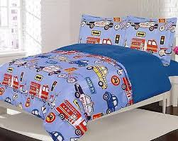 Kid Bedspreads And Comforters Boy Kid Bedding Comforter Set 2pc Twin Cars Trucks Firetruck