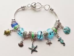 star bracelet charm images Pandora inspired sea life charm bracelet seahorse turtle star jpg