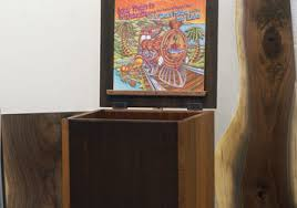 Mid Century Record Cabinet by Madison Avenue Mid Century Modern Hardwood Furniture
