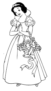 snow white coloring coloring pages kids
