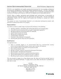environmental consultant cover letter template job and resume