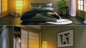 Japanese Style Bedroom by Japanese Style Bedroom Set Bold Headboard And Brown Shag Carpet