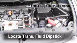 transmission fluid level check honda civic 2006 2011 2009