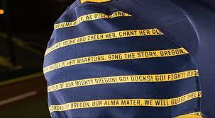 New Oregon Flag Why Oregon U0027s Wearing Blue And Gold Uniforms That Say U0027webfoots