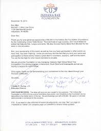 charity donation letter thank you thank you letters kenneth j allen law group community thankyou 2013 page 005