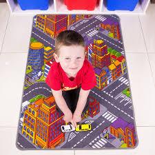 Kids City Rug by Big City Interactive Roads Cheap Children U0027s Rug 80x120 Kukoon