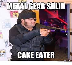 Metal Gear Solid Meme - conn metal gear solid cate con cake eater meme on esmemes com