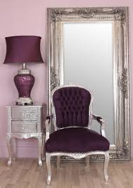 Shabby Chic Armchairs by Stunning Purple Velvet Shabby Chic Armchair The Wooden Frame Has