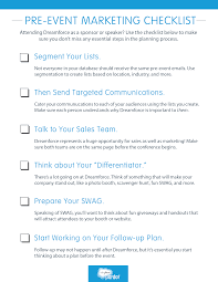 Sales Call Planning Worksheet Pre Event Marketing Checklist Marketers Use This Checklist To