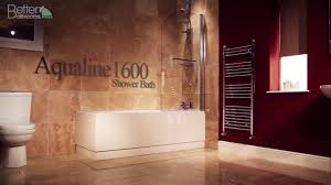 Shower Bath 1600 Aqualine 1600 X 700 Straight Shower Bath With Front Panel 6mm