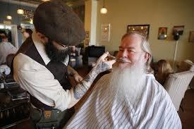 specialty barbers focus on beards as hair grows trendy