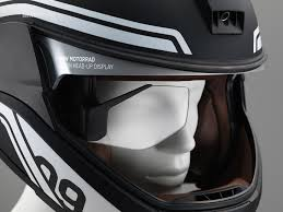 motorcycle equipment bmw motorrad presents a helmet with head up display
