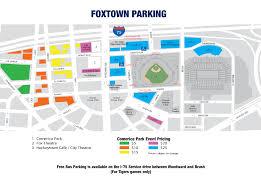 Dodger Stadium Parking Map Comerica Park Parking Detroit Tigers