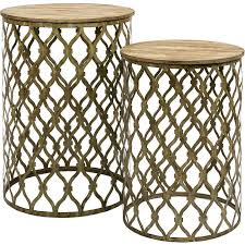 small nest of tables gold nesting tables