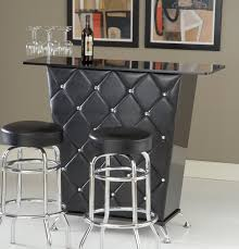 funiture thin home bar cabinet designs in black wooden material