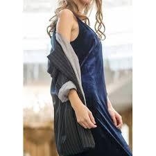 navy blue plain draped v neck streetwear polyester midi dress