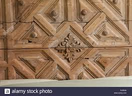 carved wood plank carved wooden bed headboard stock photo royalty free image