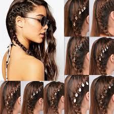 5pcs lot braid hair accessories leaf charm hair