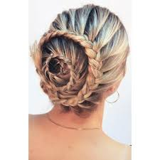 hair spirals the braided bun liked on polyvore featuring beauty products