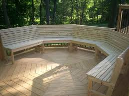 Wood Bench Plans Deck by 7 Best Outdoor Deck Benches Images On Pinterest Deck Benches