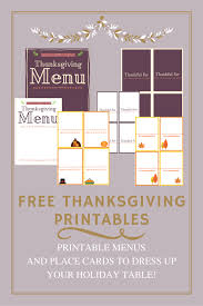 free thanksgiving printables menu u0026 matching place cards the