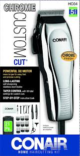 amazon com conair 21 piece chrome custom haircut kit beauty