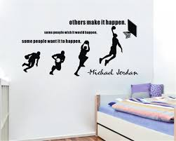 character quote sports michael jordan wall decals basketball dunk sport wall stickers