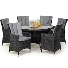 Maze Kitchen Table - maze rattan la 6 seat round rattan garden furniture set internet