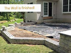 Building A Patio by How To Build A Kidney Shaped Patio And Sitting Wall Diy Network