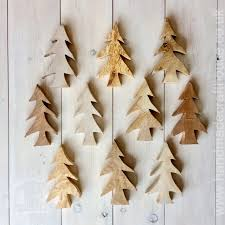 wooden trees decoration the handmade craft house