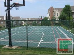 Outdoor Court Lighting by Backyards Amazing Backyard Basketball Court Size Outdoor